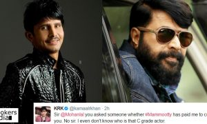KRK against Mammootty, KRK mohanlal issue, mohanlal mammootty fans, latest malayalam movie news, Mammootty latest news