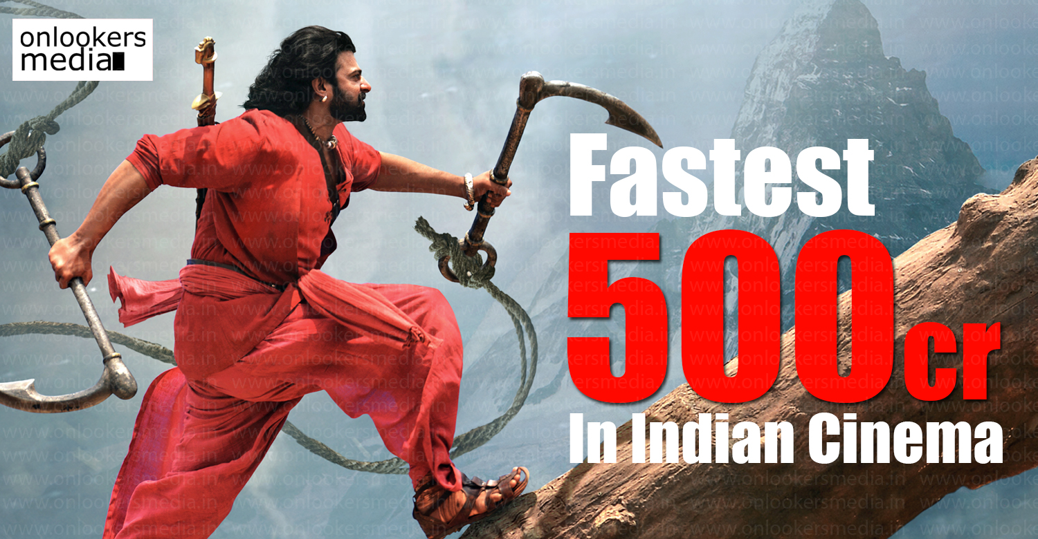baahubali 2 latest news, latest malayalam news, baahubali 2 crosses 500 crore, baahubali 2 records, baahubali 2 collection, baahubali 2 world wide collection, fastest 500 crore in indian cinema