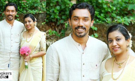 midhun manuel thomas latest news, midhun manuel thomas marriage, midhun manual thomas wedding stills, midhun manuel thomas wife photos