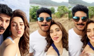 Dulquer Salmaan ,Neha Sharma's selfie with Dulquer Salmaan ,Tamil Malayalam bilingual movie Solo. Bollywood filmmaker Bejoy Nambiar in Malayalam ,DOP Girish Gangadharan ,Dulquer Salmaan multiple looks ,Dulquer Salmaan solo movie stills ,Neha Sharma' solo movie stills ,Dulquer Salmaan Neha Sharma solo movie stills