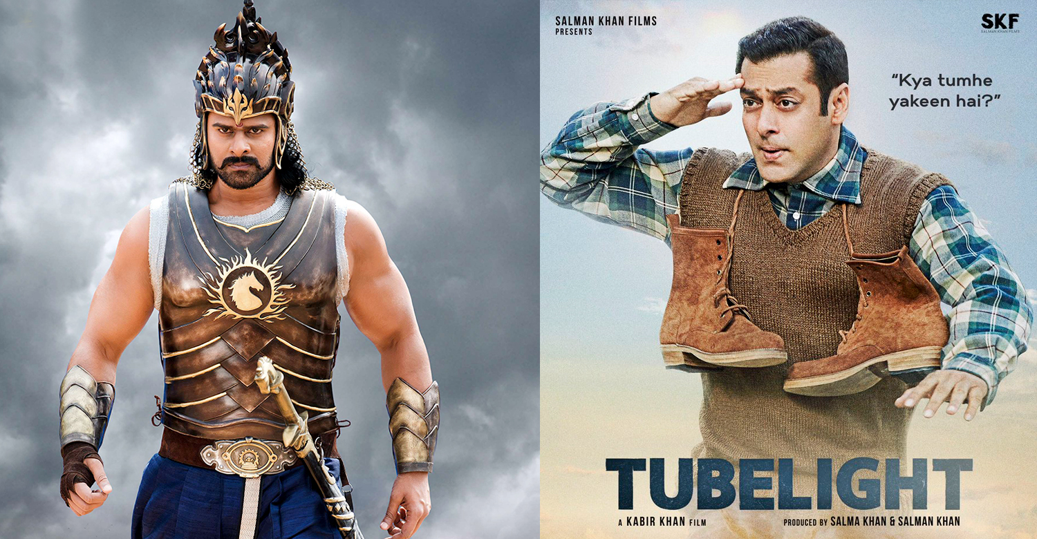 Tubelight , Baahubali 2 , Baahubali 2 records ,Baahubali 2 collection records ,Baahubali ,Tubelight records ,Tubelight new records , SS Rajamouli Baahubali 2 ,Salman Khan new records ,Salman Khan new movie records ,Salman Khan new movie Tubelight;