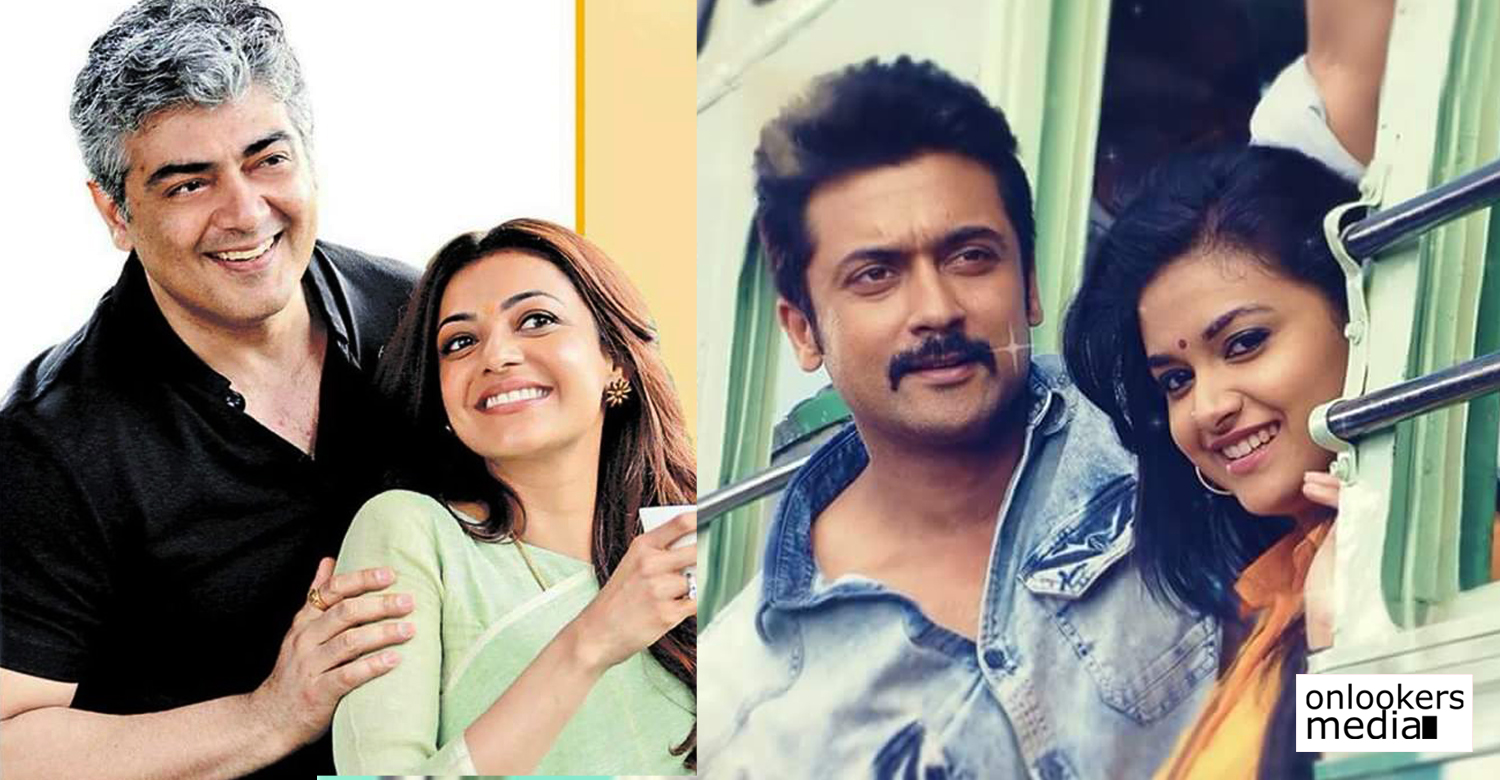 Vivegam, vivegam movie stills, Thaana Serntha Koottam,Thaana Serntha Koottam movie stills, vijay mersal, vivegam satellite right, Thaana Serntha Koottam satellite right, sun tv,sun tv satellite films,kajal agarwal, viviek oberoi, suriya new movie, suriya, vijay new movie, keerthi suresh, nithya menon, samantha ruth prabhu,