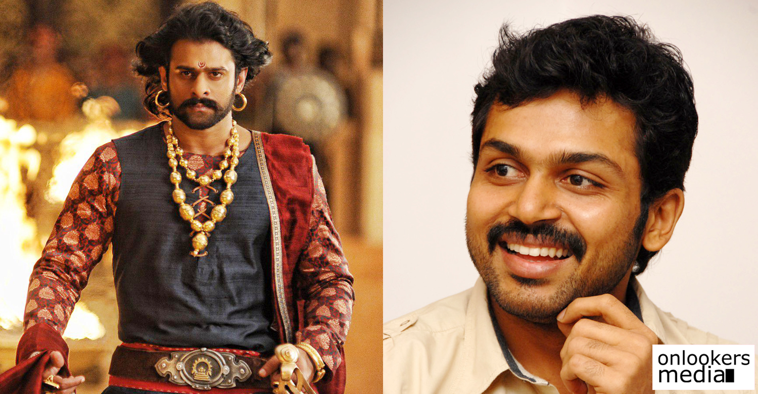 prabhas donated rs 75 lakhs for farmers in tamil nadu: karthi