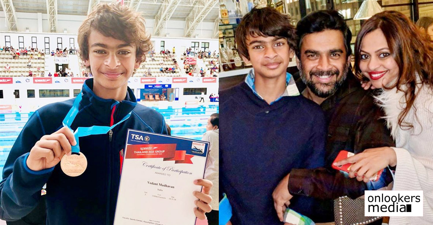 actor madhavan,madhavan's latest news,actor madhavan's son vedaant,actor madhavan's son veddant's latest news,actor madhavan's son latest news,actor madhavan's son vedaant's news,actor madhavan's son veddant wins bronze for india,