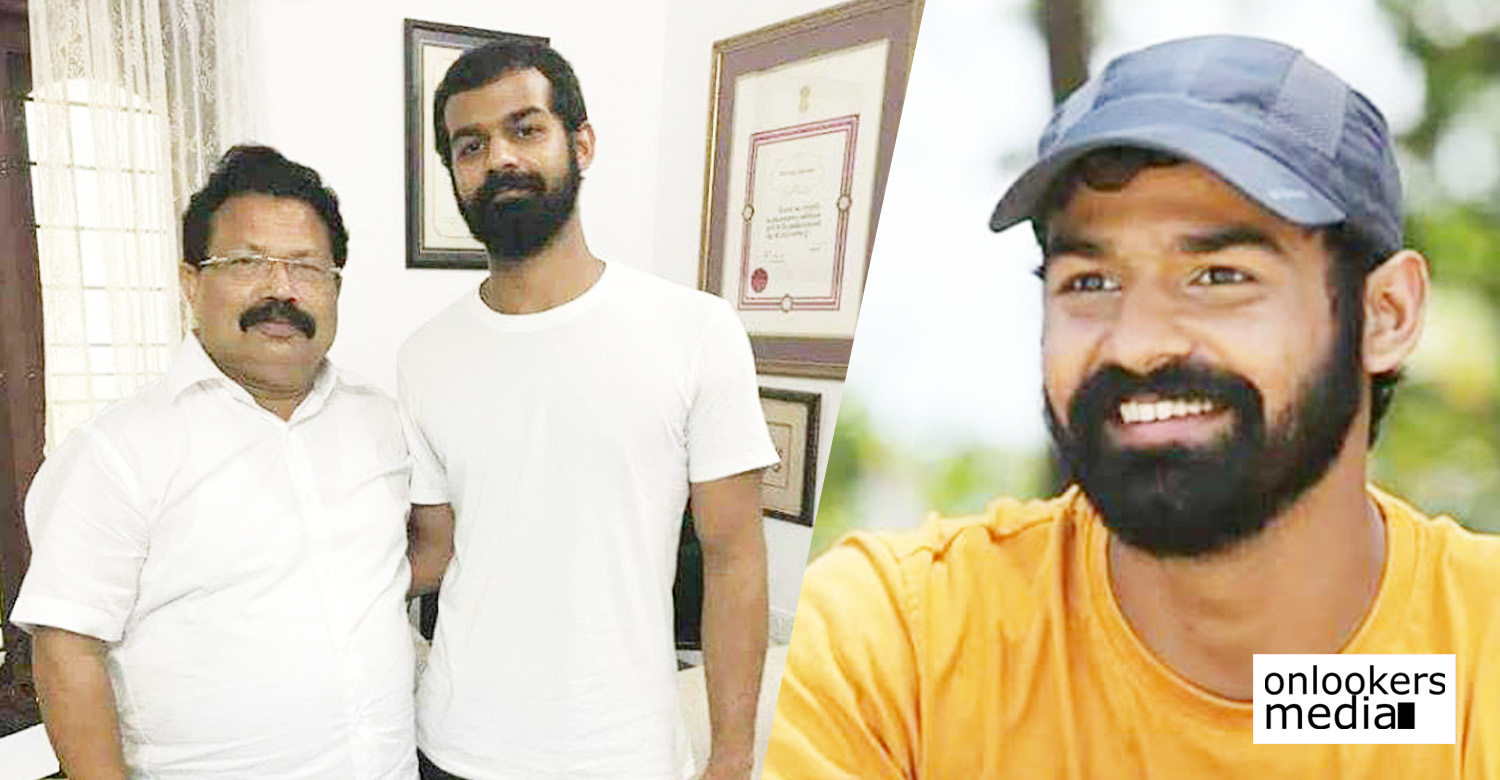 pranav mohanlal,pranav mohanlal's news,pranav mohanlal's movie news,pranav mohanlal's upcoming movie news,director arun gopy,pranav mohanlal director arun gopy's movie news,pranav mohanlal's new movie shooting dates,producer tomichan mulakupadam's movie news,pranav mohanlal tomichan mulakupadam's movie news,pranav mohanlal with tomichan mulakupadam still image