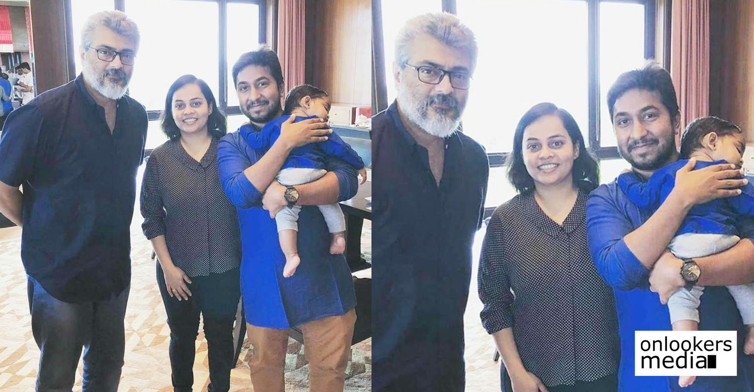 vineeth sreenivasan,vineeth sreenivasan's latest news,thala ajith,thala ajith with malayali actor director vineeth sreenivasan,vineeth sreenivasan with thala ajith image,thala ajith with vineeth sreenivasan's family image,thala ajith's latest still,vineeth sreenivasan with thala ajith photos,vineet sreenivasan about thala ajith,vineeth sreenivasan with tamil actor ajith
