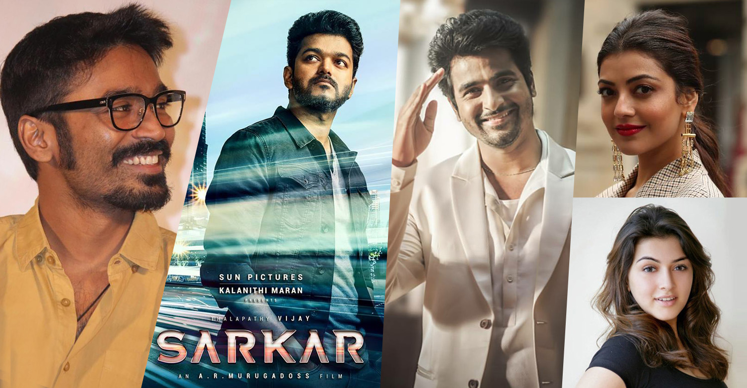 actor vijay,vijay's latest news,vijay's sarkar movie latest news,dhanush,dhanush's tweet about vijay,dhanush vijay news, Sivakarthikeyan, Sivakarthikeyan's latest news, Sivakarthikeyan's tweet about vijay. Sivakarthikeyan vijay news, Hansika Motwani, Hansika Motwani's tweet about vijay,kajal agarwal,kagal agarwal's tweet about vijay