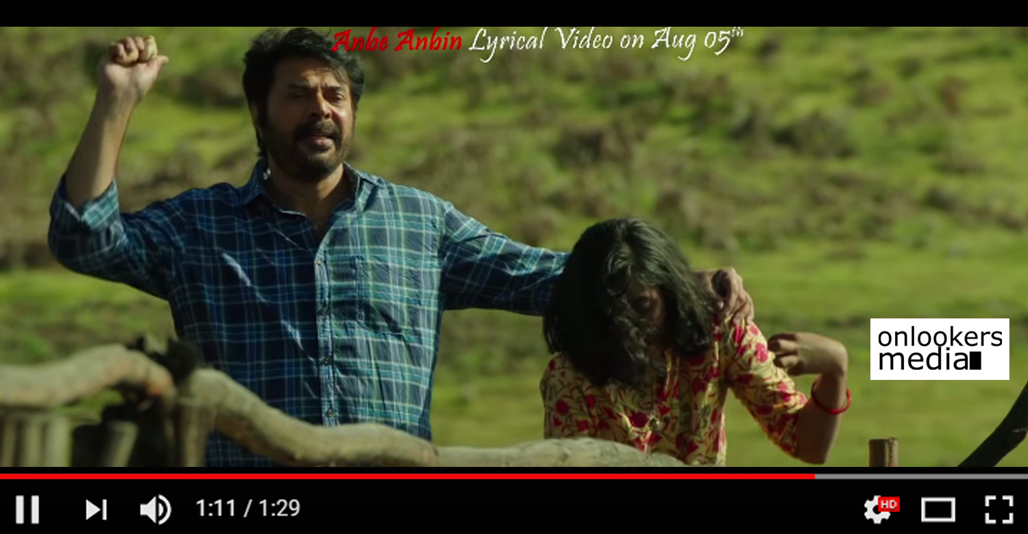 peranbu movie,peranbu,peranbu mammootty's movie,anbe anbin promo video,mammootty's peranbu anbe anbin promo video song,peranbu movie anbe anbin promo video song,anbe anbin song