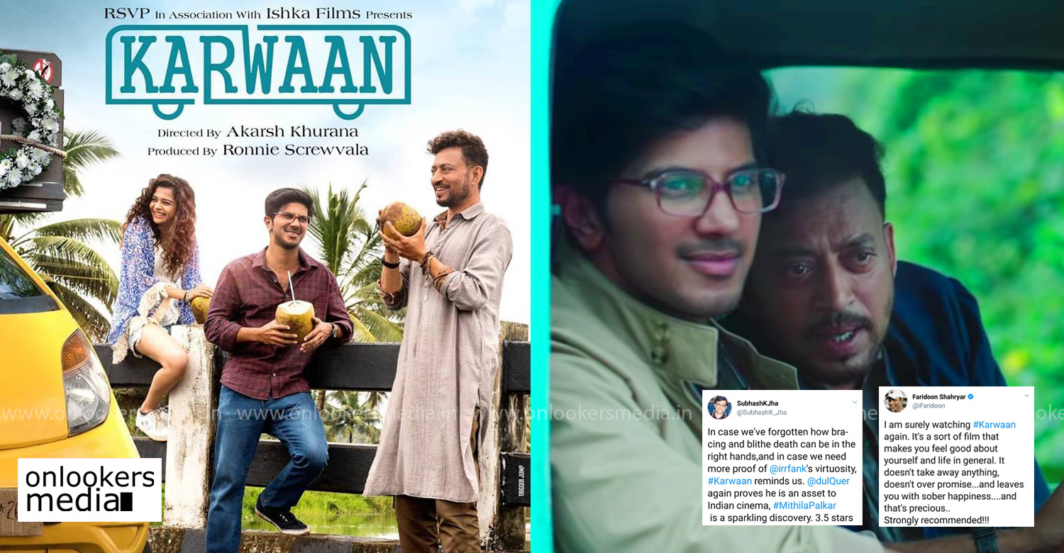 karwaan,karwaan movie,karwaan movie latest news,karwaan movie latest report,karwaan movie preview show reviews,dulquer salmaan's karwaan movie preview show review,karwaan preview show review,dulquer salmaan's karwaan movie latest news