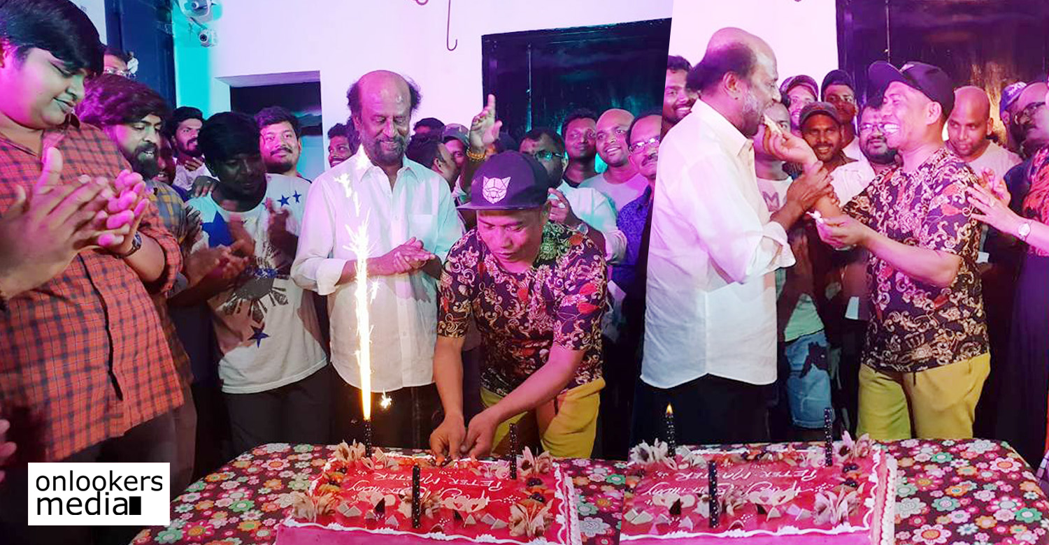 peter hein,peter hein celebrates his birthday with rajinikanth,peter hein's latest news,peter hein's birthday celebration stills,peter hein's birthday celbration's news,peter hein rajinikanth's news,peter hein's birthday celebration photos,peter hein celebrated his birthday with superstar rajinikanth