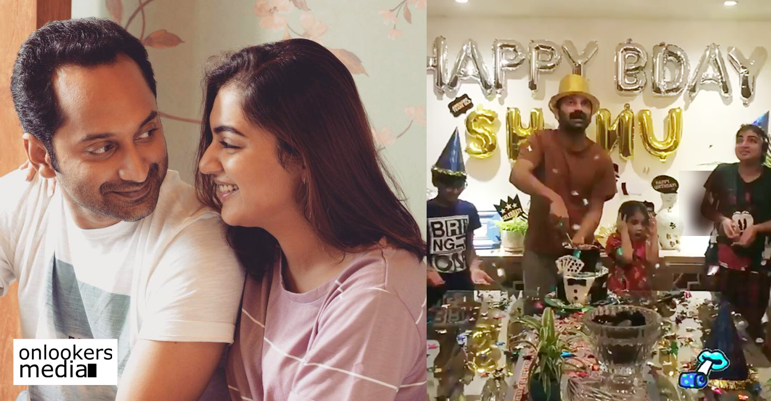 fahadh faasil,fahadh faasil's latest news,fahadh faasil's birthday celebration video,fahadh faasil's recent news,fahadh faasil's birthday news,fahadh faasil and nazriya celebrating fahadh birthday,fahadh celebrating his birthday with nazriya,fahadh faasil nazriya's stills