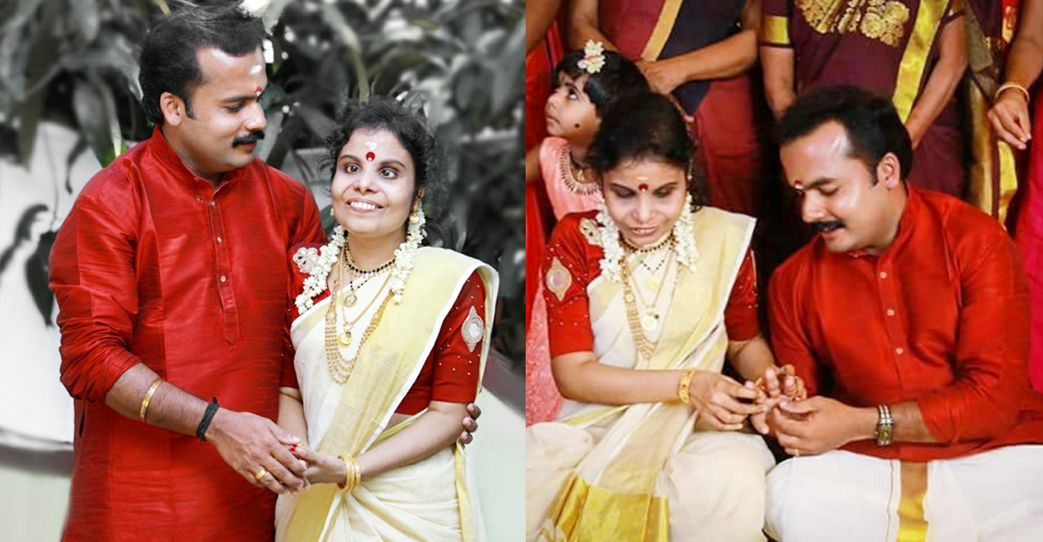 Vaikom Vijayalakshmi,singer Vaikom Vijayalakshmi,singer Vaikom Vijayalakshmi's latest news,singer Vaikom Vijayalakshmi's news,Vaikom Vijayalakshmi's latest news,singer Vaikom Vijayalakshmi's engagement stills,Vaikom Vijayalakshmi's engagement stills,singer Vaikom Vijayalakshmi's engagement photos,singer Vaikom Vijayalakshmi engaged to anoop
