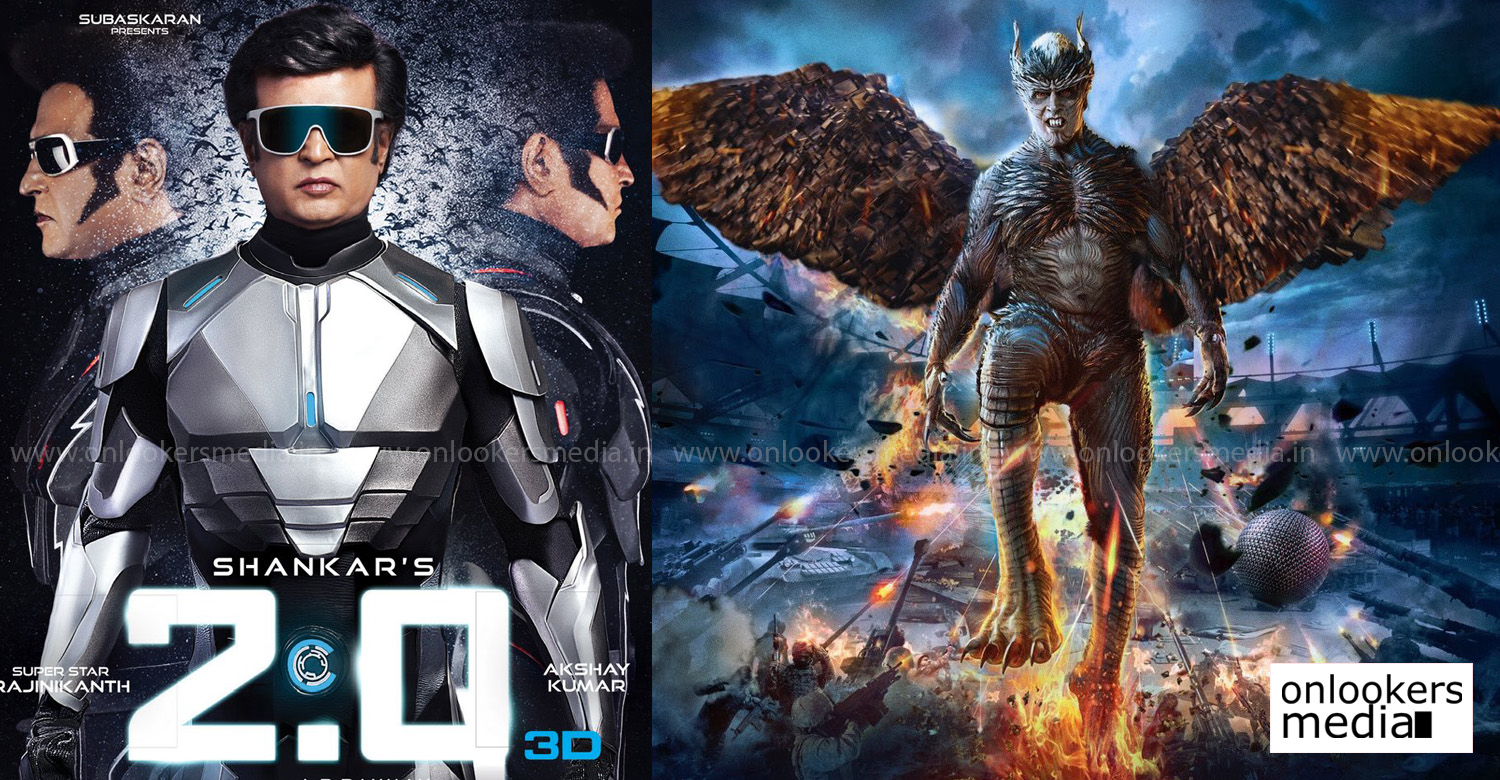 2.0,2point0 movie,2.0 movie,superstar rajinikanth,akshay kumar,director shankar,amy jackson,2.0 movie poster,2.0 poster stills,2.0 movie latest news,2.0 worldwide screen count