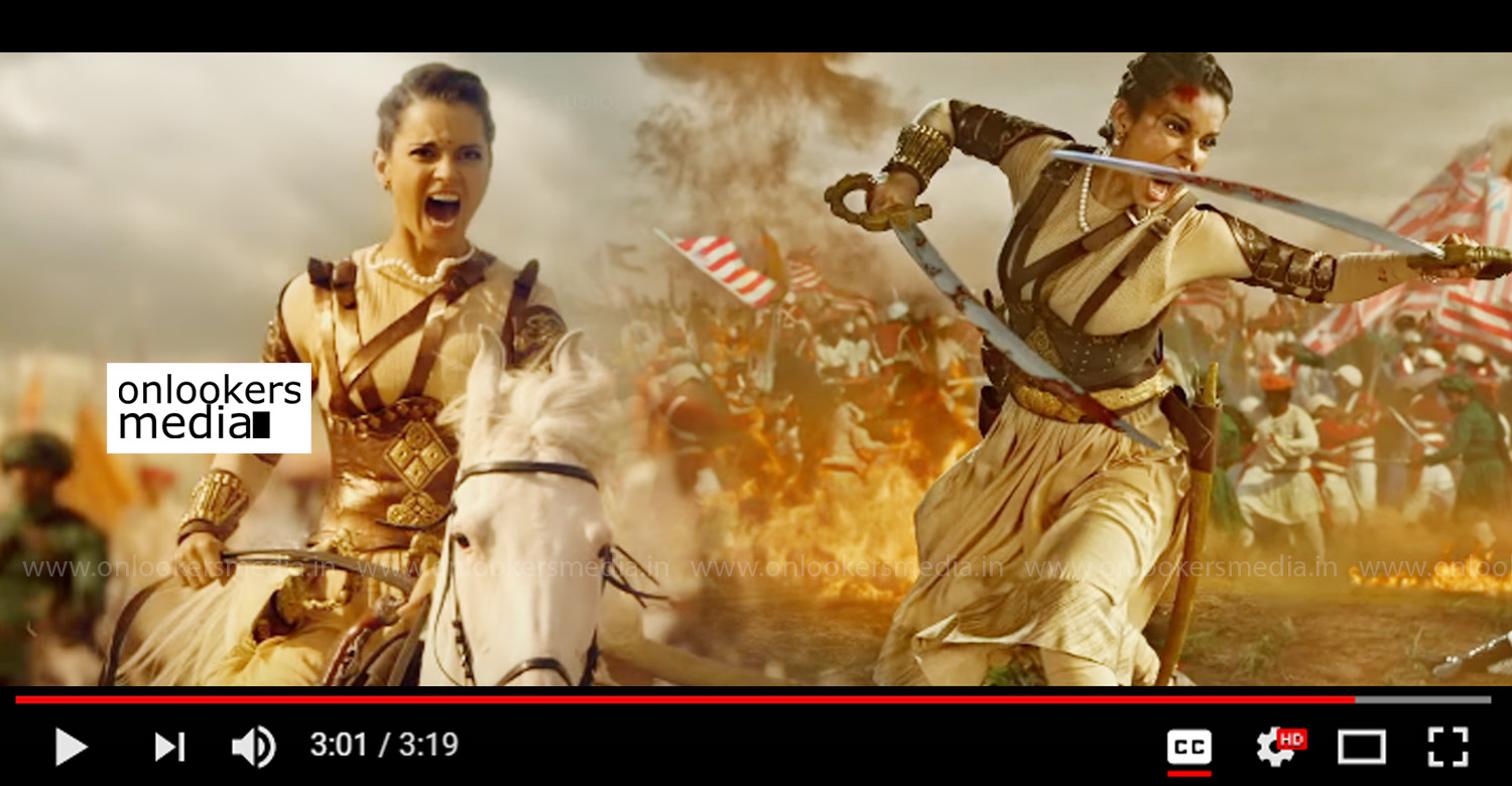 Manikarnika The Queen Of Jhansi,Manikarnika The Queen Of Jhansi official trailer,manikarnika official trailer,manikarnika trailer,Kangana Ranaut,manikarnika