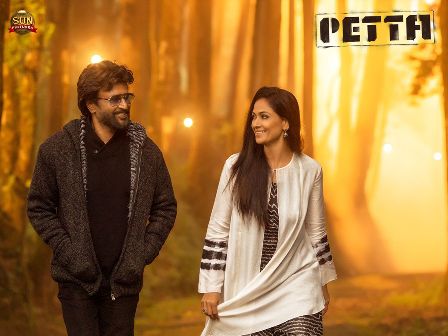 Petta,rajinikanth,simran,petta poster,petta movie stills,rajinikanth and simran in petta,simran in petta,karthik subbaraj,vijay sethupathi