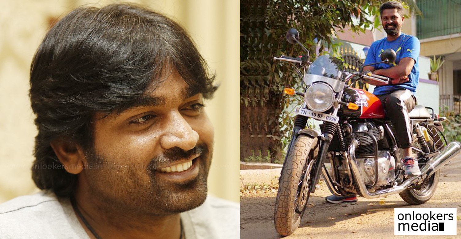 actor vijay sethupathi,makkal selvan vijay sethupathi,96 director,96 movie director,96 tamil movie director,96 director prem kumar,director premkumar,vijay sethupathi 96 director latest news,vijay sethupathi director prem kumar latest news,Vijay Sethupathi gifts Royal Enfield to 96 director,Vijay Sethupathi gifts Royal Enfield to prem kumar,96 the movie