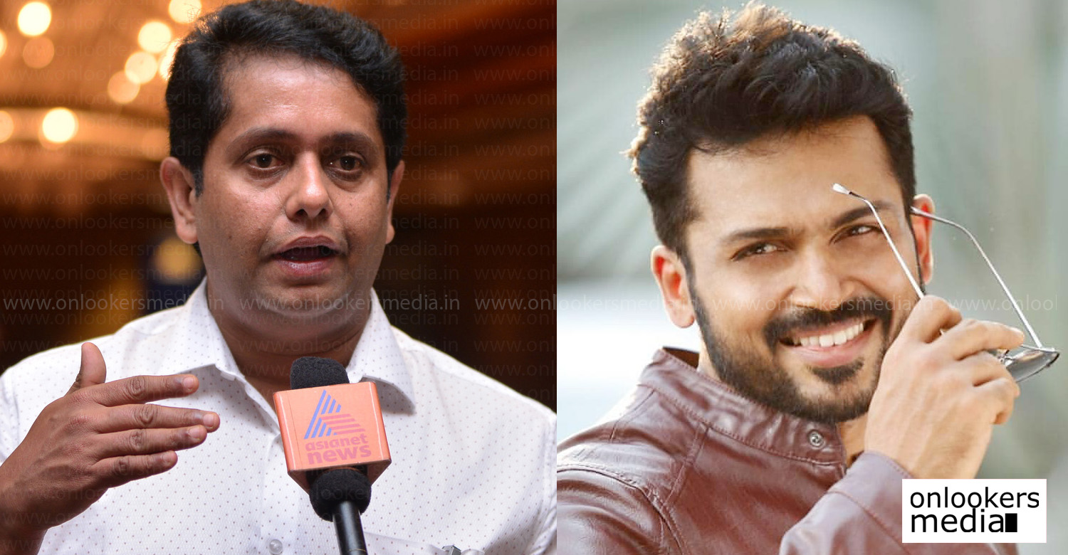 jeethu joseph,tamil actor karthi,actor karthi,director jeethu joseph,jeethu joseph's new tamil movie,jeethu joseph's next tamil movie,karthi,actor karthi's next movie,karthi jeethu joseph movie,after papanasam jeethu joseph's next movie,jeethu joseph's new tamil project,actor karthi's latest news,karthi's updates,karthi's stills,jeethu joseph's stills