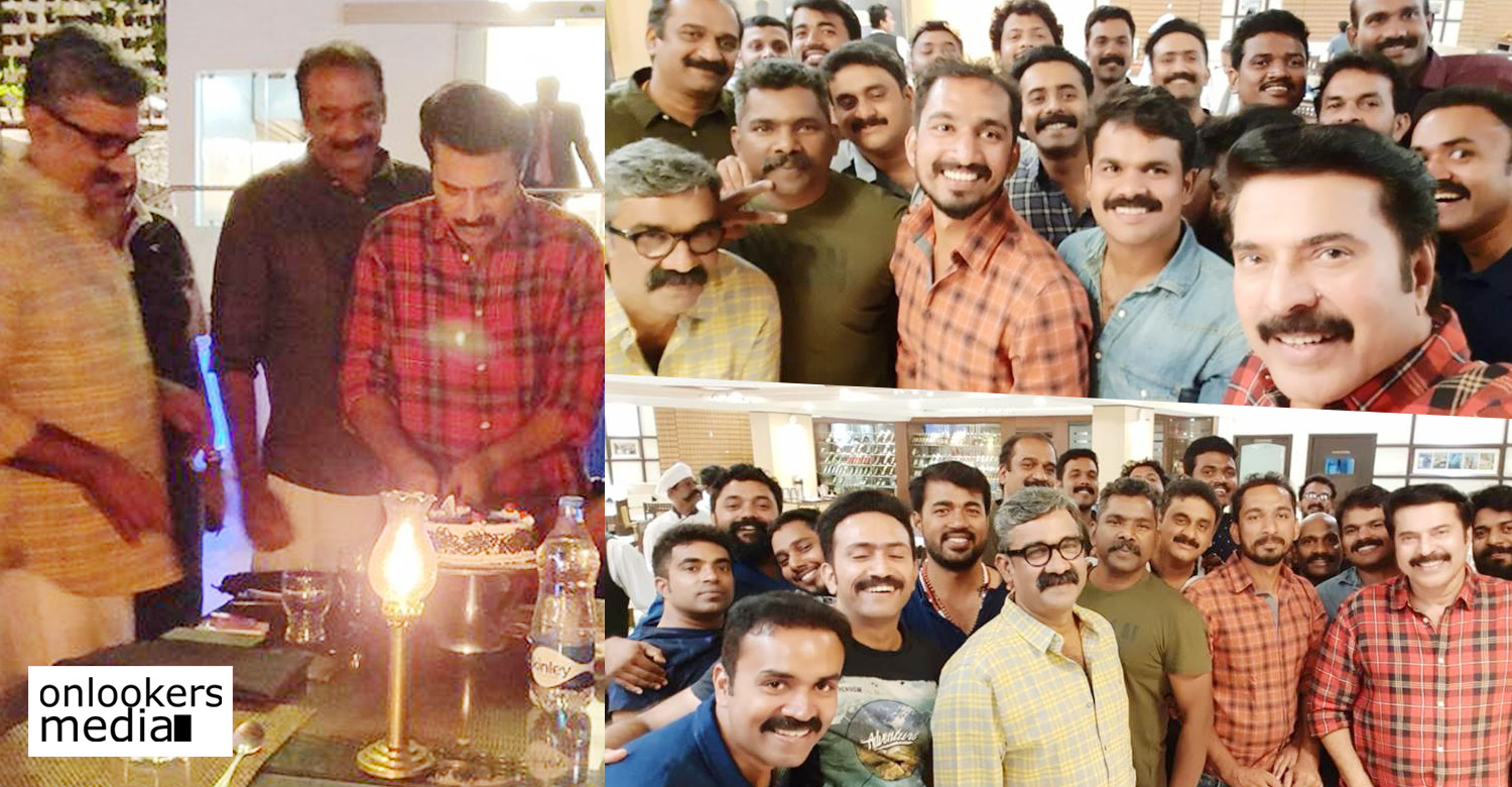 Unda,Unda the movie,unda movie updates,megastar mamootty,mammootty,mammootty dinner with unda movie crew,unda the movie crew dinner with mammootty,mammootty updates,mammootty dinner with unda team stills photos