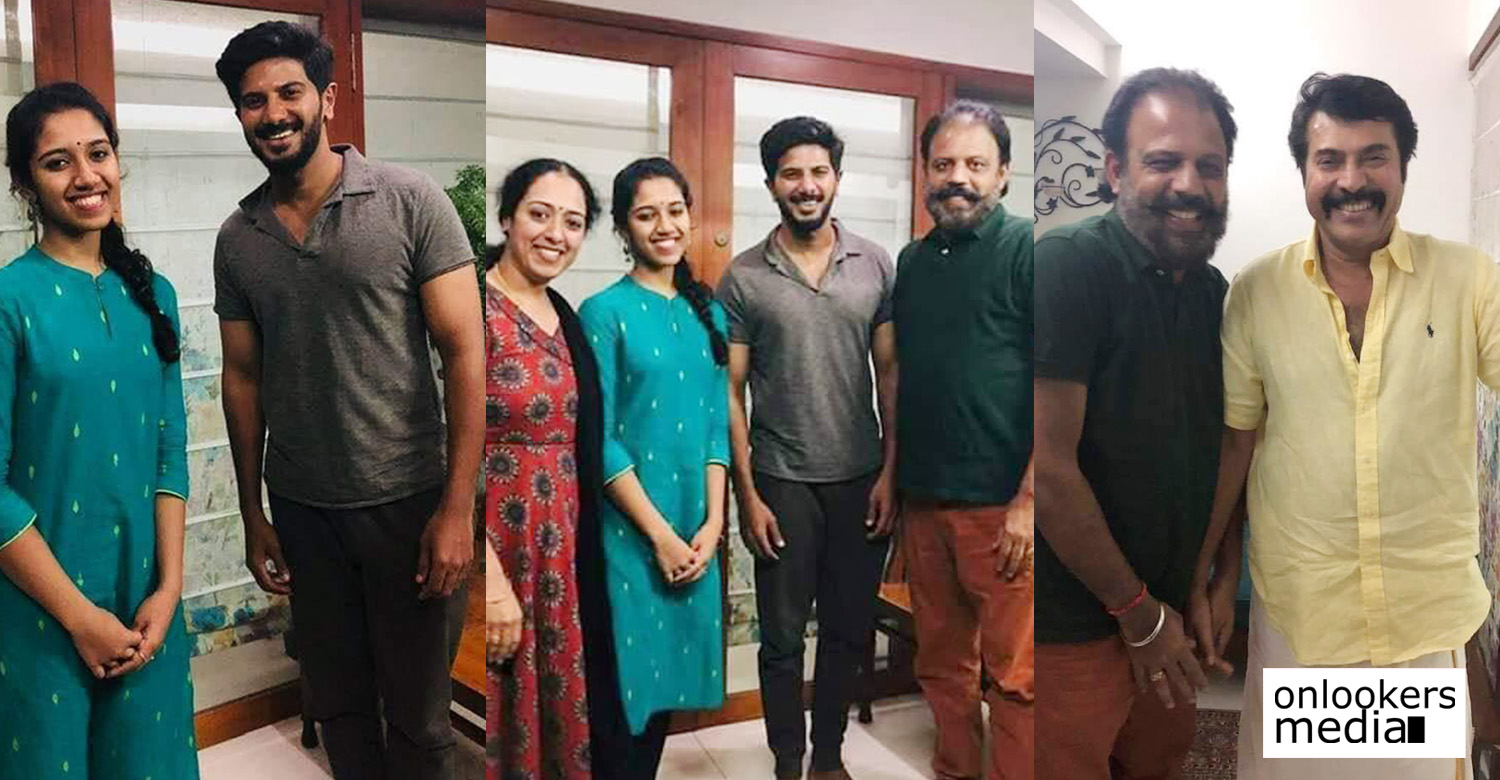 peranbu actress sadhana,sadhana and her family with mammootty and dulquer salmaan,sadhana with dulquer salmaan stills,sadhana and her family with dulquer and mammukka,dulquer salmaan,mammootty,megastar mammootty,peranbu actress sadhana,sadhana with mammootty and dulquer salmaan