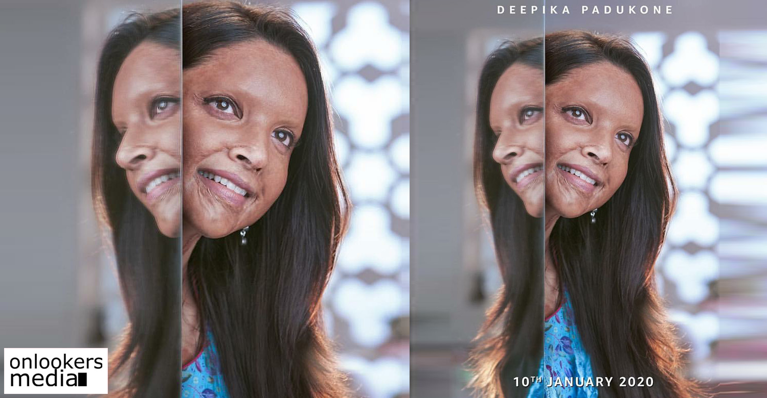 chhapaak,chhapaak first look poster,deepika padukone,bollywood actress deepika padukone,first look of deepika padukone new movie,first look of deepika padukone's chhapaak,chhapaak new movie,bollywood movie chhapaak,deepika padukone in chhapaak
