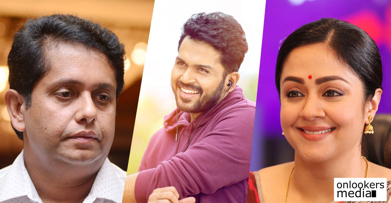 Jeethu Joseph,director Jeethu Joseph,Jeethu Joseph new tamil movie,Jeethu Joseph's latest news,tamil actor karthi,actor karthi,actor karthi's updates,karthi's new movie,actress jyothika,karthi and jyothika in Jeethu Joseph movie,karthi jyothika Jeethu Joseph,actress jyothika's updates,actress jyothika's latest news
