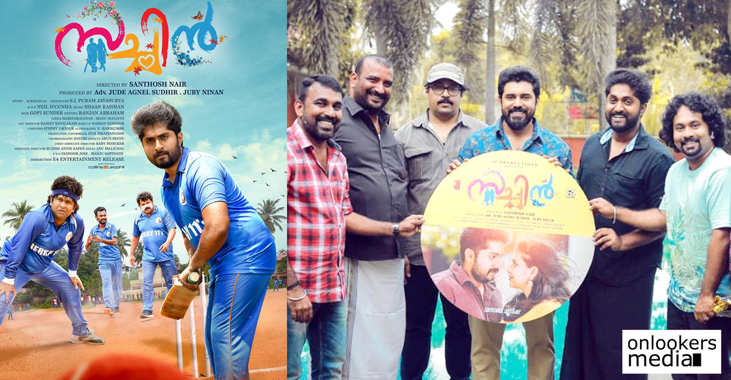 sachin,sachin movie,sachin malayalam movie,sachin movie audio launch,love action drama,lad,nivin pauly,dhyan sreenivasan,aju varghese,santhosh nair,sachin audio launch