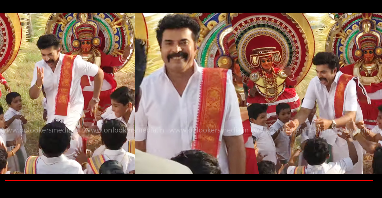 Mammookka's Dance with Kids at Madhuraraja Location,mammootty's dance with kids at madhura raja location,madhura raja,megastar mammootty,director vysakh,mammootty's dance with kids madhura raja set