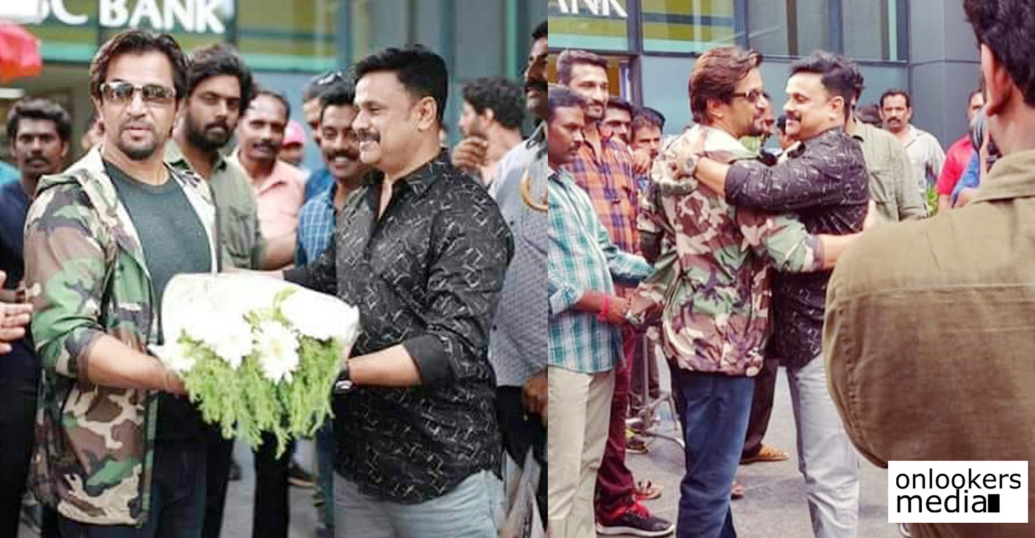 Jack Daniel,Jack Daniel Updates,Jack Daniel Movie Latest News,Dileep And Arjun At Jack Daniel Location,Arjun At Jack Daniel Location,Tamil Actor Arjun,Actor Arjun's New Movie,Arjun Dileep Movie,Arjun Dileep At Jack Daniel Set
