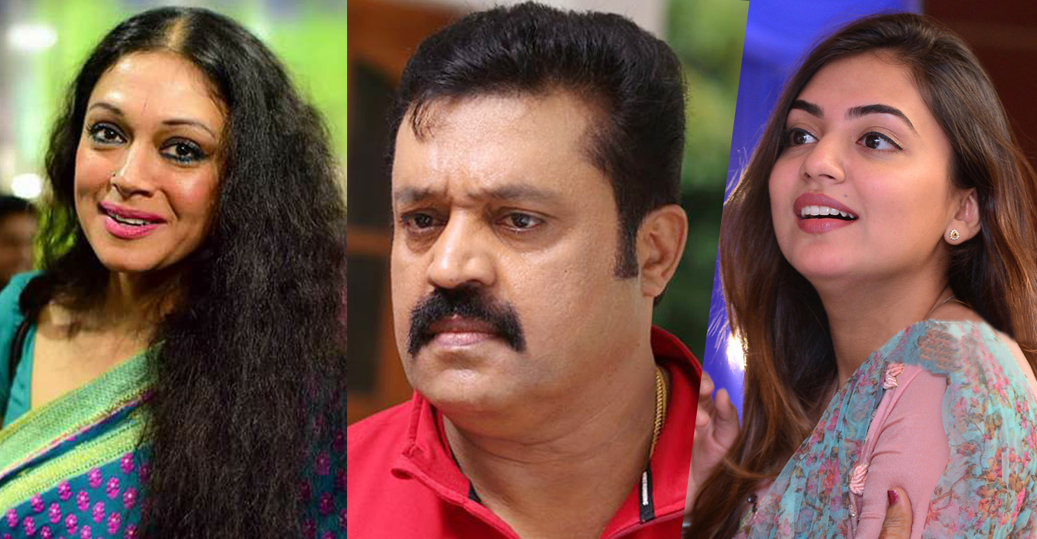 suresh gopi,actress shobhana,actress nazriya,suresh gopi shobhana nazriya movie,Suresh Gopi, Shobhana and Nazriya Stills Photos,suresh gopi's new movie,nazriya nazim's new movie,actress shobhana new movie,akhil sathyan,sathyan anthikad son