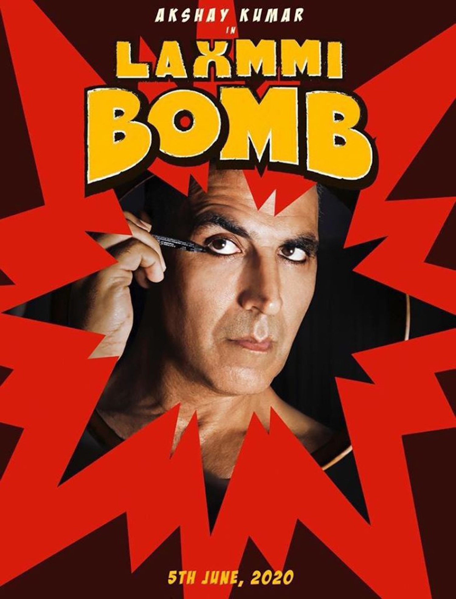 Laaxmi Bomb First Look Poster,Laaxmi Bomb Poster,Laaxmi Bomb New Movie,Kanchana Remake Laaxmi Bomb,Kanchana Hindi Remake First Look Poster,Akshay Kumar,akshay kumar's Laaxmi Bomb poster,raghava lawrence,kaira advani,akshay kumar in Laaxmi Bomb,akshay kumar in kanchana remake