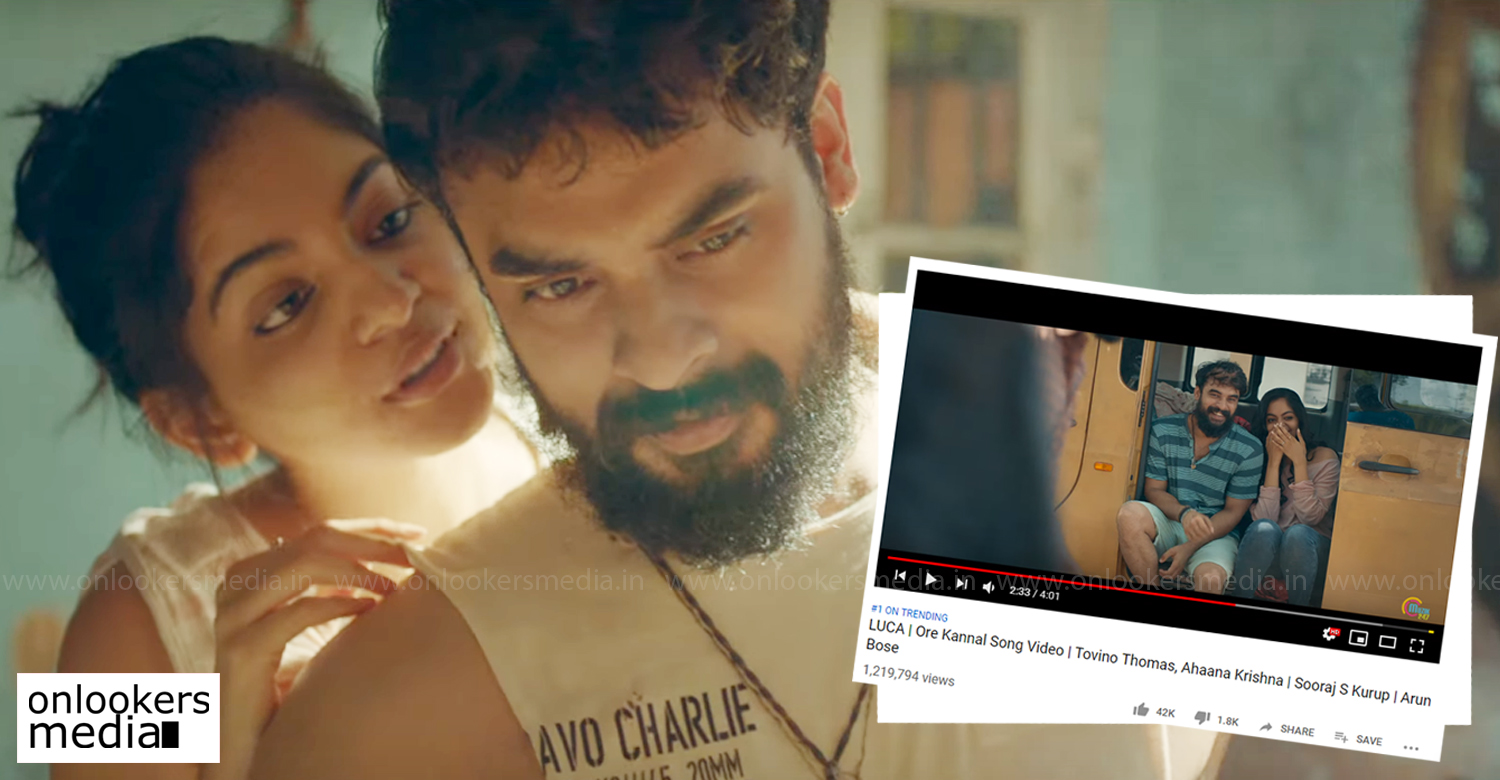 Ore Kannal Song,Ore Kannal Video Song,luca movie song,luca Ore Kannal Song,tovino thomas,ahaana krishna