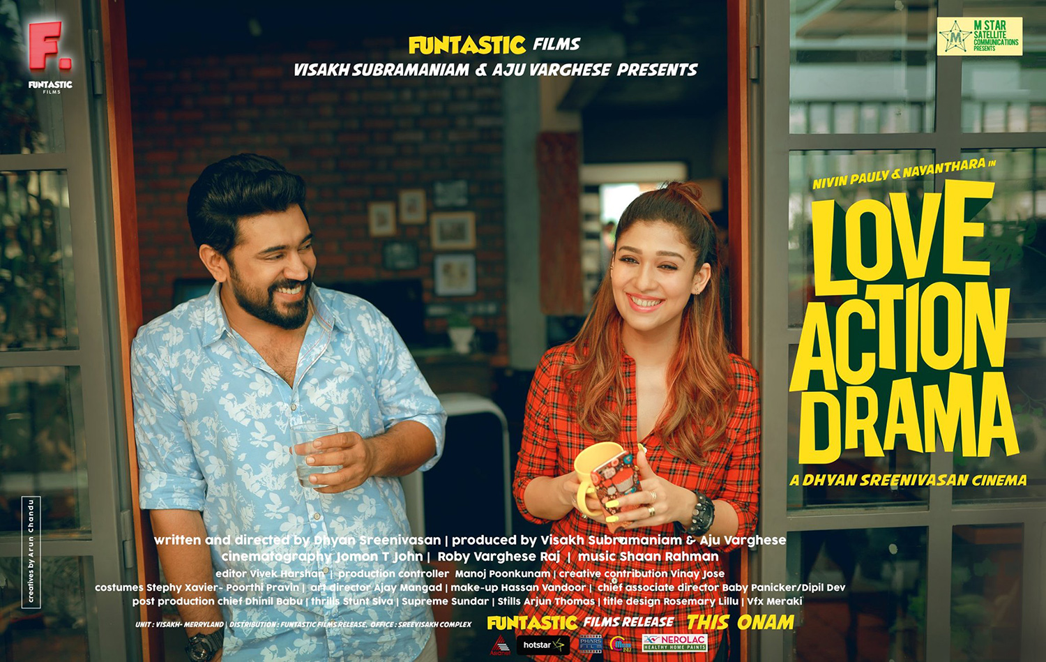 love action drama,love action drama first look poster,love action drama first look,lad,lad first look poster,nivin pauly,nayanthara,dhyan sreenivasan,nivin pauly nayanthara movie poster,nayanthara new malayalam film,nivin pauly and nayanthara in love action drama,nayanthara new malayalam movie stills,aju varghese