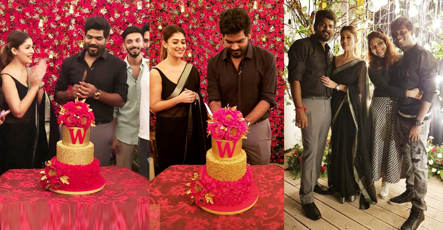 Vignesh Shivan,nayanthara,Vignesh Shivan birthday celebration stills,Vignesh Shivan celebrates his birthday with Nayanthara,director vignesh shivan birthday celebration stills