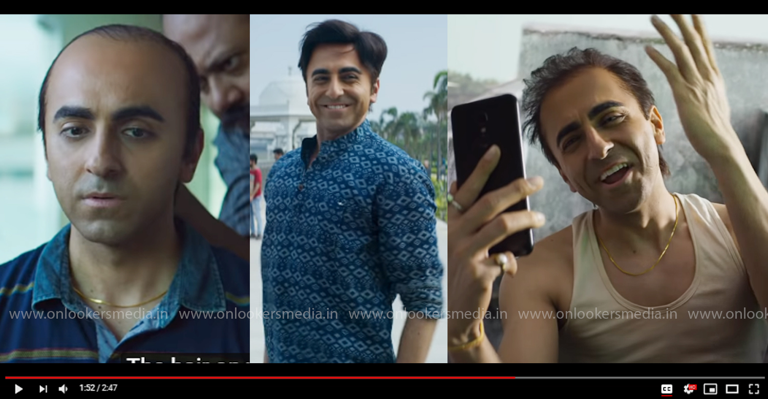 ayushmann khurrana,bala official trailer,bala,bala trailer,Ayushmann Khurran bala trailer,Ayushmann Khurran new movie,latest bollywood film news,Ayushmann Khurran latest news,bala hindi movie
