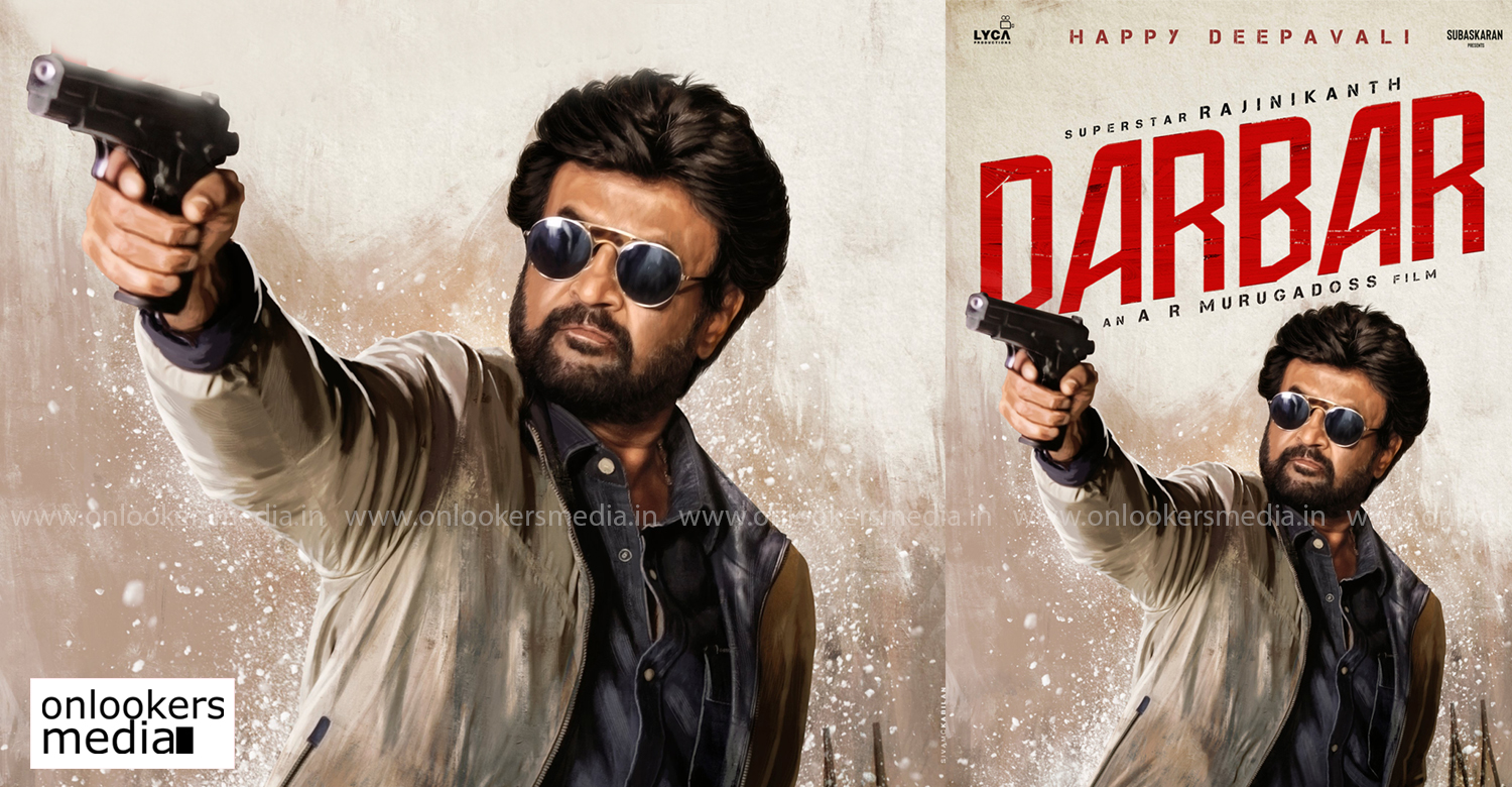 Darbar,Darbar new poster,Darbar tamil film,Darbar film,Darbar movie diwali special poster,diwali special poster of rajinikanth's darbar,superstar rajinikanth,thalaivar rajinikanth,ar murugadoss,latest kollywood film news,latest tamil cinema news,rajinikanth upcoming police movie,rajinikanth new police movie