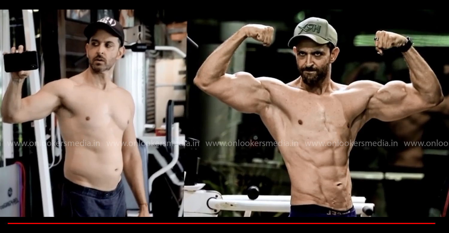Hrithik Roshan,actor Hrithik Roshan,Hrithik Roshan body,Hrithik Roshan workout video,Hrithik Roshan's stunning transformation video,bollywood actor hrithik roshan,hrithik roshan gym work out