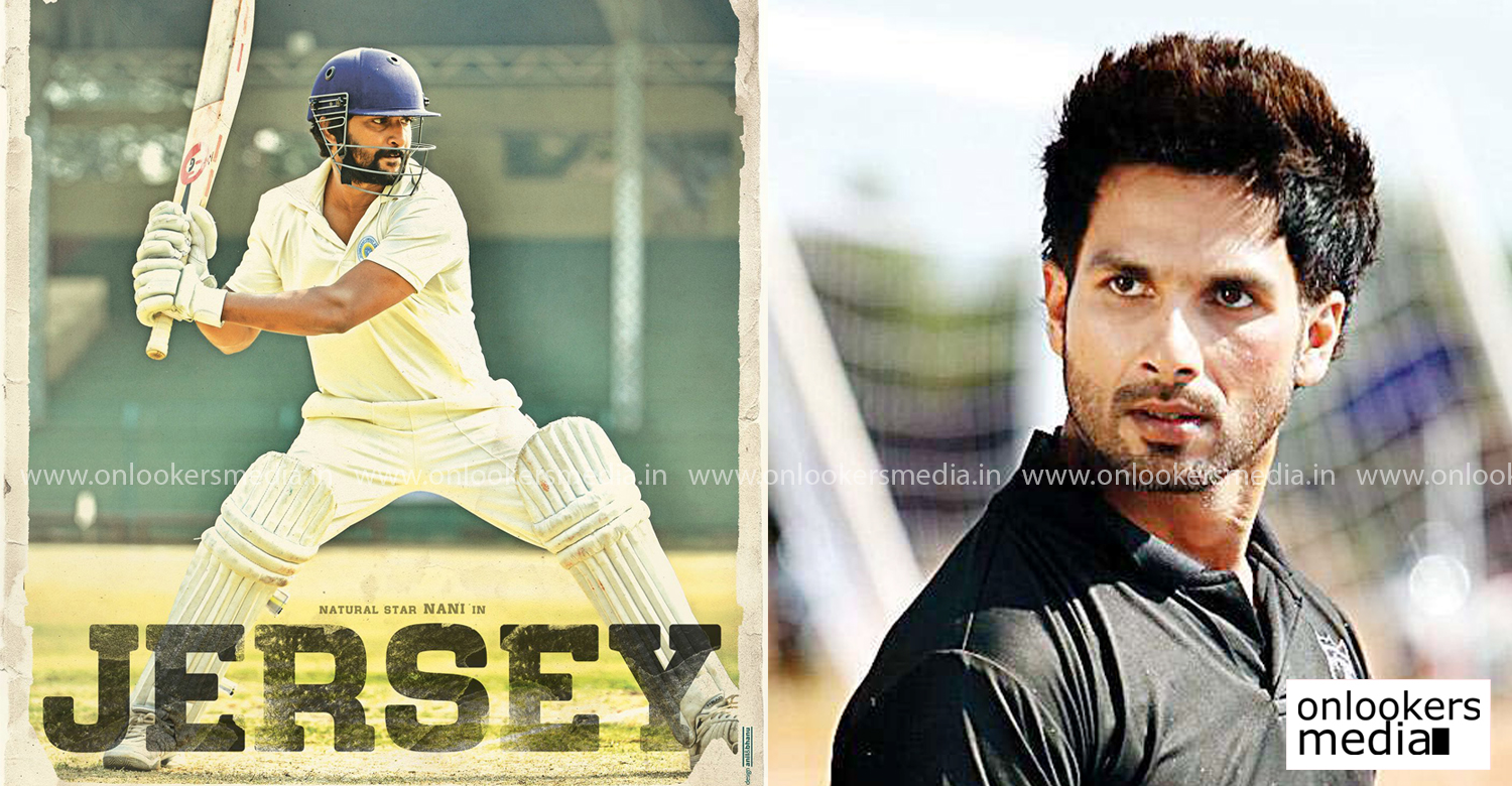Jersey,Jersey hindi remake,Shahid Kapoor,Shahid Kapoor latest news,Shahid Kapoorin jersey hindi remake,latest bollywood film news,Shahid Kapoor new films,Shahid Kapoor upcoming movie,jersey hindi remake hero,nani,nani jersey film,Shahid Kapoor cricket player