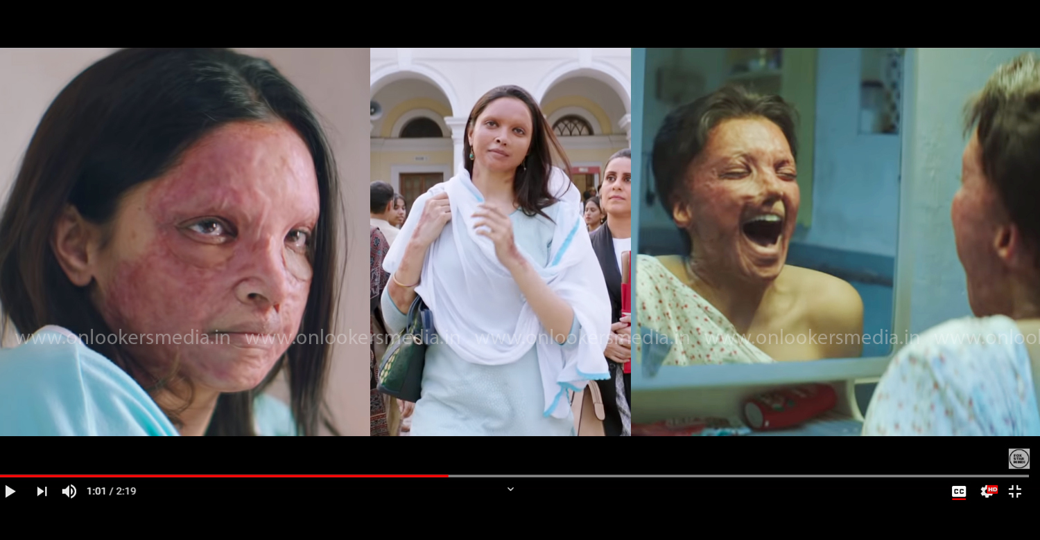 Chhapaak,Chhapaak official trailer,Chhapaak trailer,deepika padukone,deepika padukone's new movie trailer,deepika padukone Chhapaak trailer,deepika padukone in Chhapaak