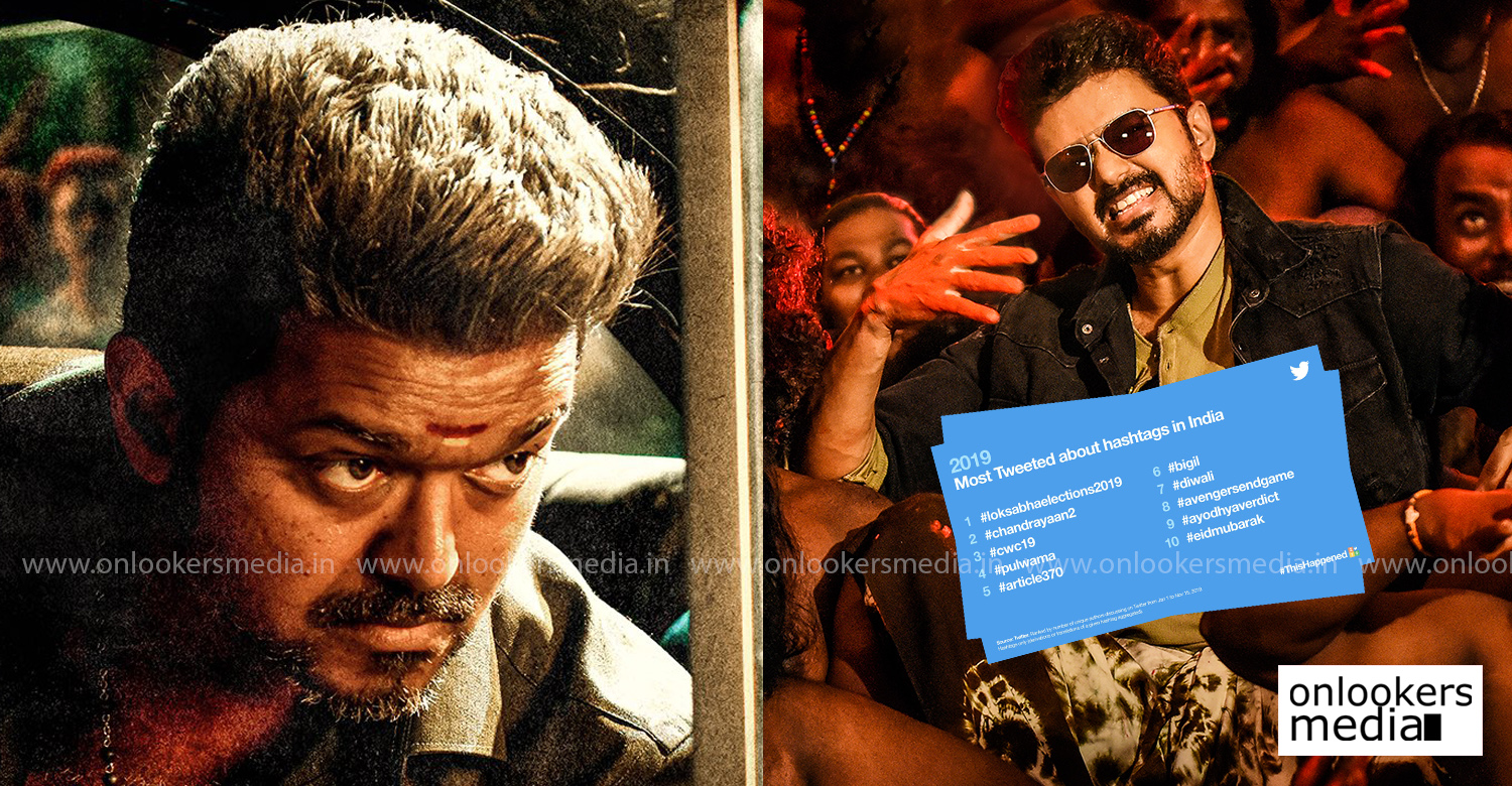 bigil,2019 most tweeted about hashtags in india,list of Most Tweeted about hashtags in India 2019,thalapathy vijay,atlee,bigil latest news,2019's Most Tweeted hashtags in India
