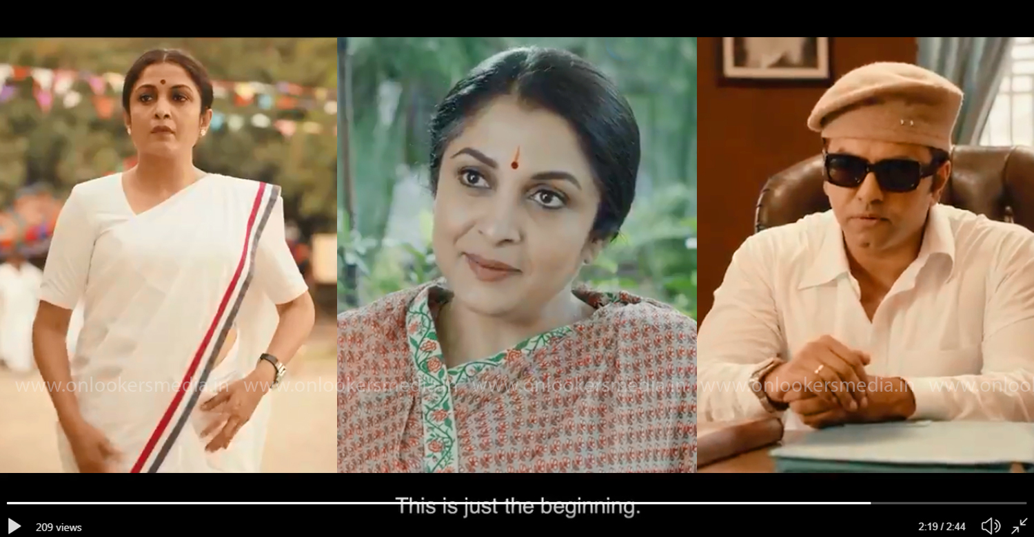 jayalalithaa biopic web series trailer,queen trailer,gautham menon,indrajith sukumaran,ramya krishnan,gautham menon's web series queen trailer,jayalalithaa biopic web series,ramya krishnan as jayalalithaa,indrajith as mgr