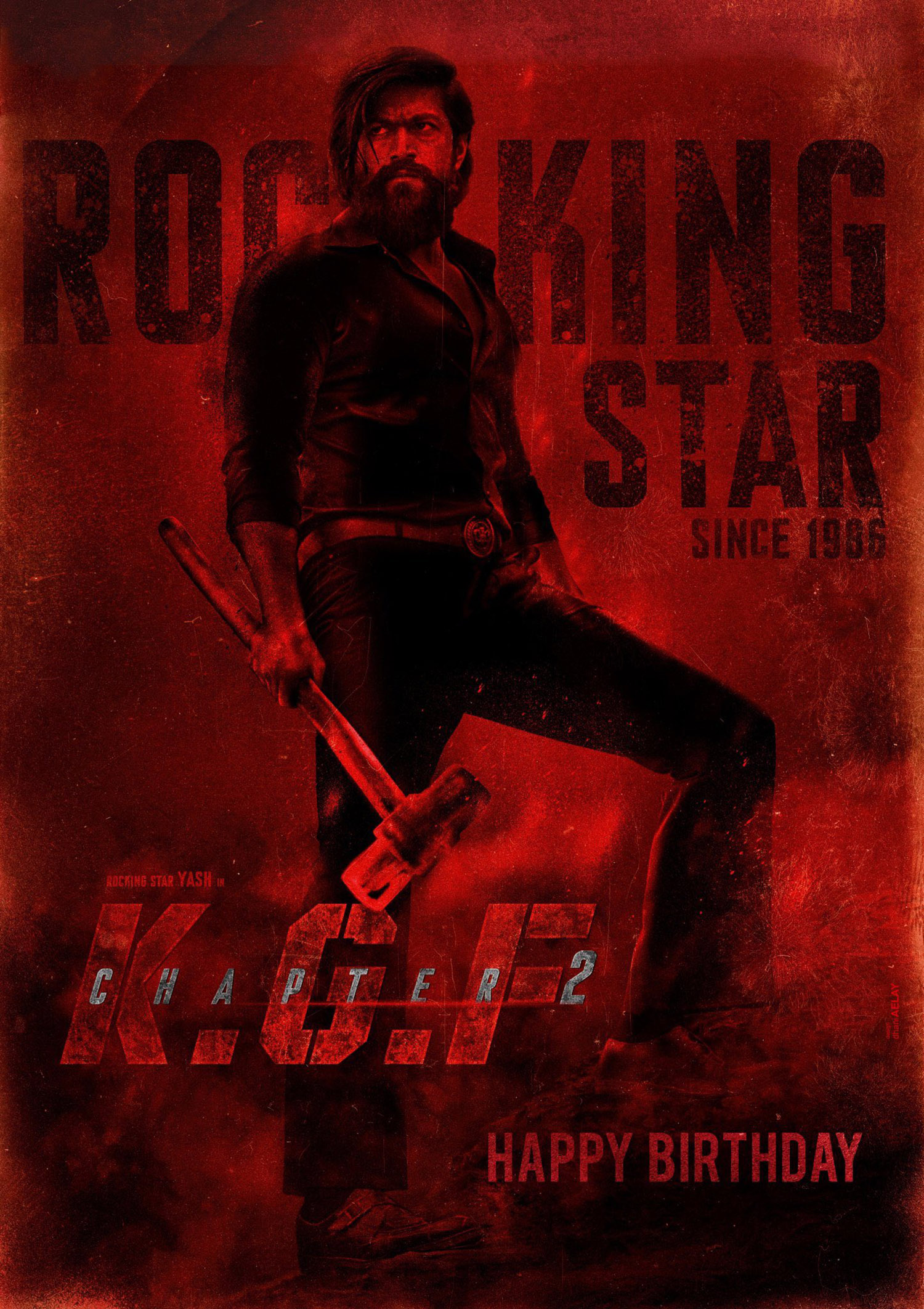 KGF 2,actor yash,kgf chapter 2,kgf chapter 2 second look poster,kgf 2 new poster,yash in kgf,kgf chapter 2 updates,kgf 2 updates,actor yash latest news