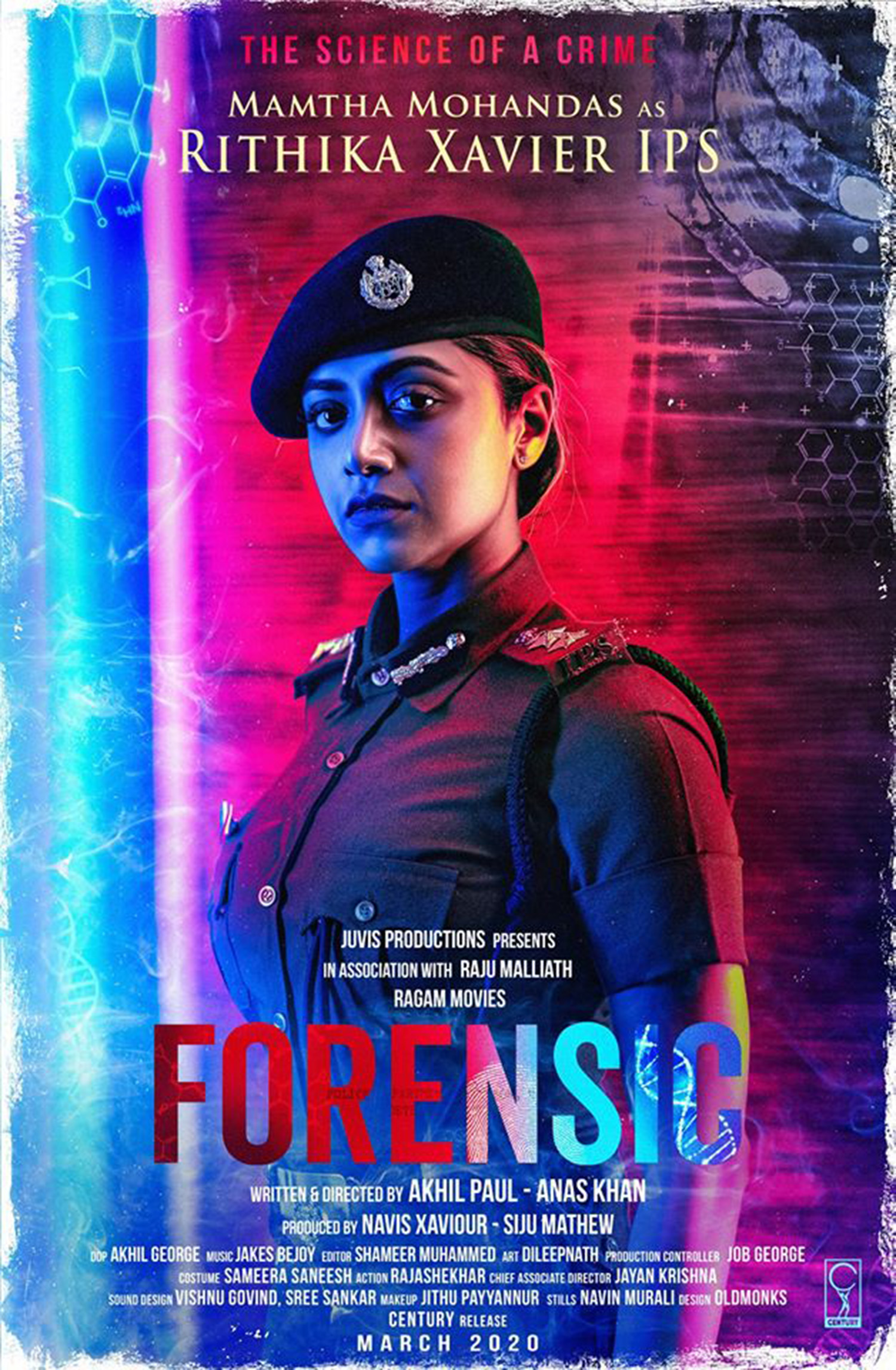 actress mamta mohandas,mamta mohandas in Forensic,mamta mohandas character poster Forensic,actress mamta mohandas new movie,Forensic movie updates,tovino thomas,tovino thomas mamta mohandas movie,Forensic new malayalam film