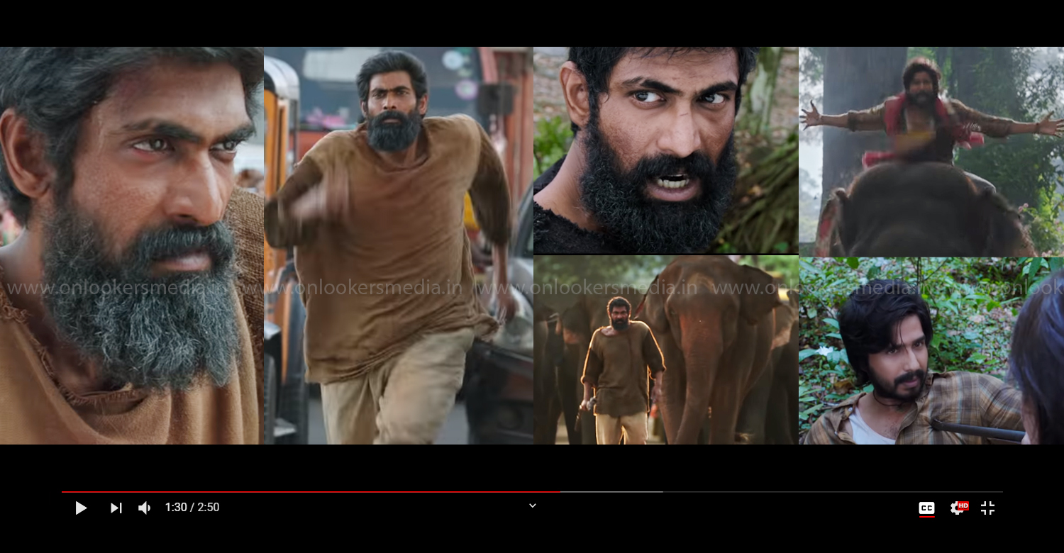 Kaadan,Kaadan tamil teaser,Rana Daggubati,Vishnu Vishal,Rana Daggubati new movie,actor vishnu vishal new movie,Rana Daggubati kaadan movie,Director Prabhu Solomon,latest tamil cinema news,new tamil movie