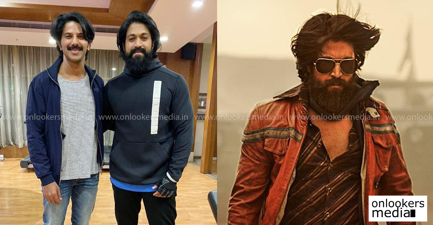 Dulquer Salmaan,Dulquer Salmaan with kgf actor yash,Dulquer Salmaan latest news,Dulquer Salmaan latest look,Dulquer Salmaan new look images,kgf actor yash,actor yash latest news
