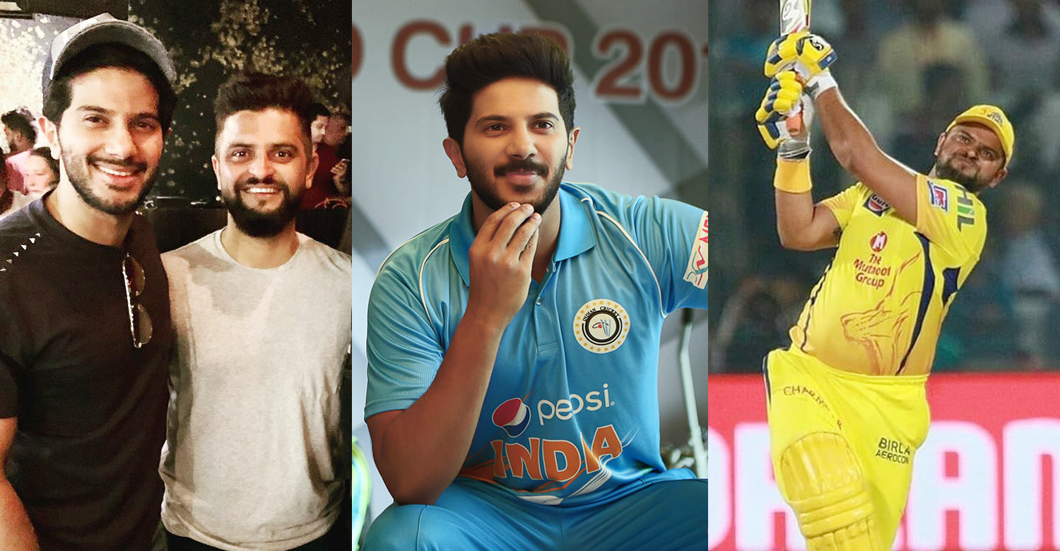 Dulquer Salmaan,Dulquer Salmaan latest news,Dulquer Salmaan with Suresh Raina,indian cricketer suresh raina,suresh raina dulquer salmaan latest news,the zoya factor movie,csk player suresh raina latest new,latest cinema news,dulquer salmaan film news