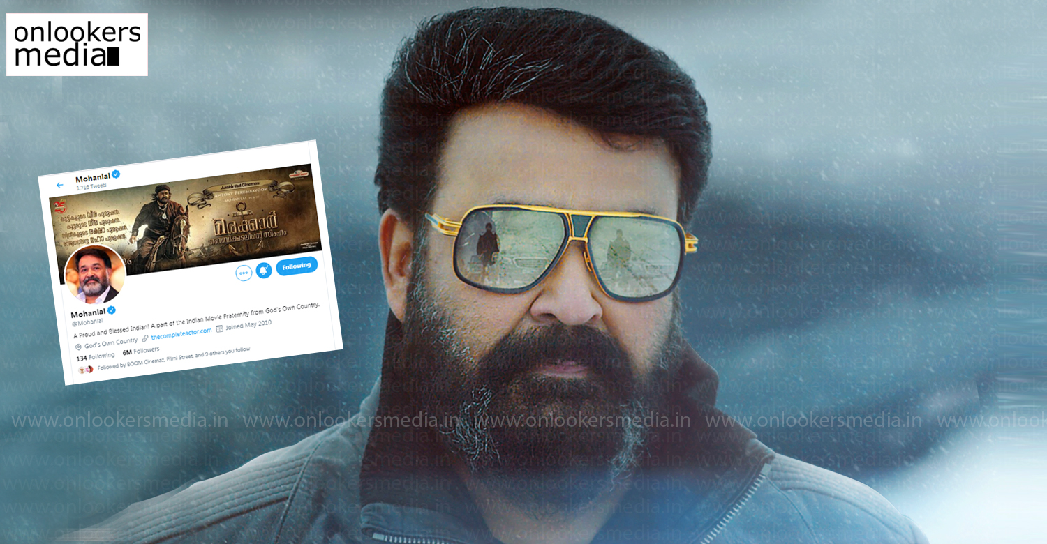 mohanlal,mohanlal latest news,mohanlal's twitter followers,most twitter followers malayali celebrity,south indian celebrities twitter followers count,mohanlal news,malayalam news,latest mollywood film news,mohanlal twitter,mohanlal twitter followers count