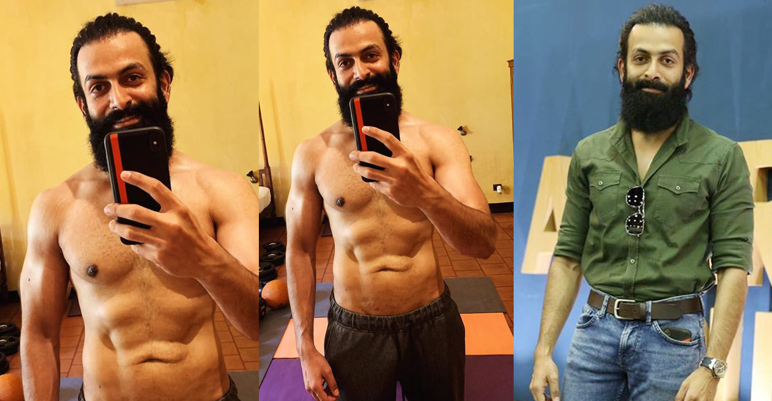 Prithviraj Sukumaran,prithviraj sukumaran latest images,actor prithviraj gym body images,actor prithviraj body,prithviraj physical transformation aadujeevitham,prithviraj latest workout images,malayalam news,malayalam actors gym body images