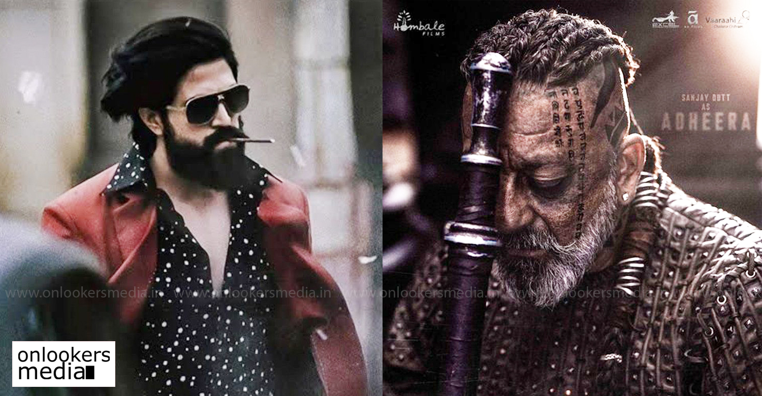 kgf chapter 2,sanjay dutt,sanjay dutt first look kgf chapter 2,yash,kgf 2,sanjay dutt in kgf 2,adheera first look,latest south indian film news,kannada cinema