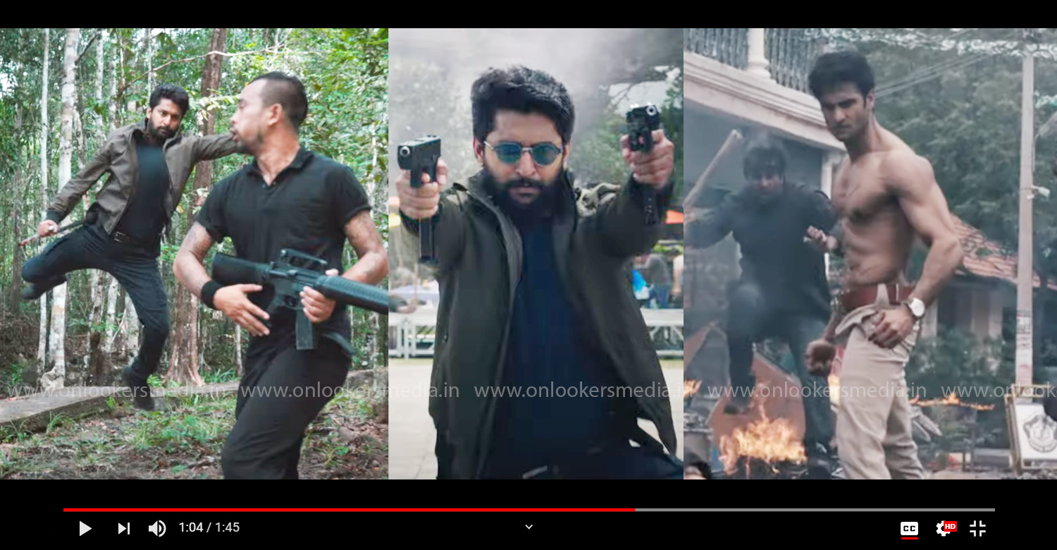 trailer of Nani's upcoming film V,actor Nani's upcoming film V,actor nani action thriller film,Sudheer Babu, Aditi Rao Hydari, Nivetha Thomas,Nani's 25th film