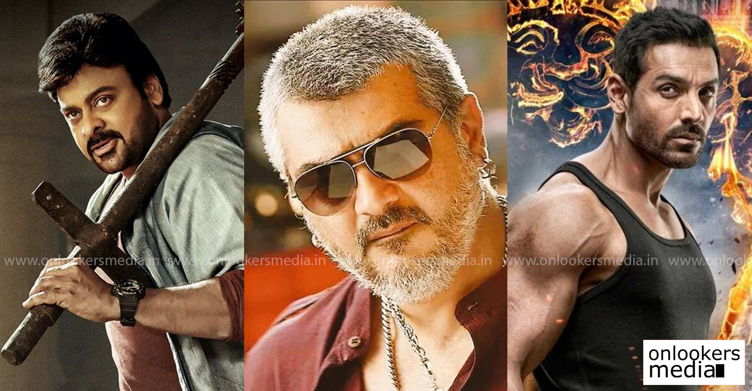 Tamil star Ajith's hit film Vedhalam,thala ajith vedhalam,vedhalam telugu remake,megastar chiranjeevi,telugu actor chiranjeevi latest news,chiranjeevi vedhalam telugu remake,bollywood actor john abraham,thala ajith vedhalam movie,thala ajith telugu remake movies,telugu remake tamil movies